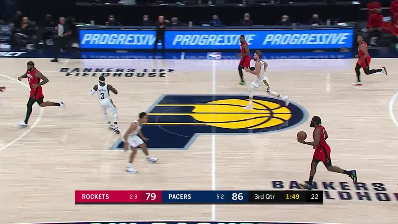 McConnell Reads the Pass and Starts the Fastbreak